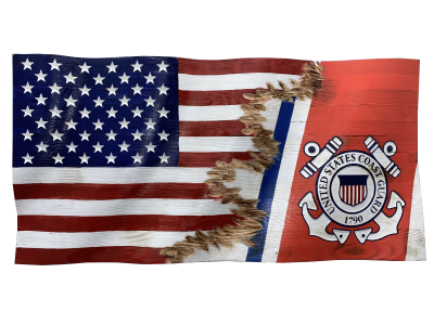 Custom Jacks US Coast Guard Flag